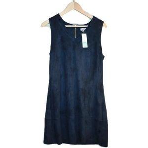 Stitch Fix Pixley Harlowe faux suede navy dress XL
